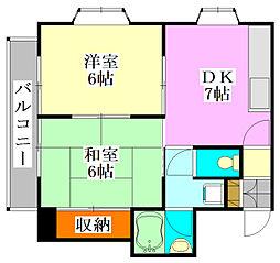 千葉県船橋市市場1丁目の賃貸マンションの間取り