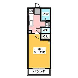 グランストークボナール[1階]の間取り