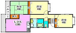 フェアリークリスタル宮本[2階]の間取り
