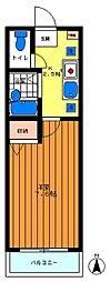 パルデンス常盤台[302号室]の間取り