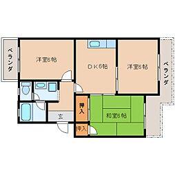 静岡県静岡市清水区蜂ケ谷の賃貸マンションの間取り