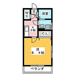 サクセス富士[1階]の間取り