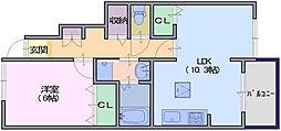 クレールコート3[1階]の間取り
