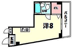 兵庫県神戸市灘区福住通6丁目の賃貸マンションの間取り