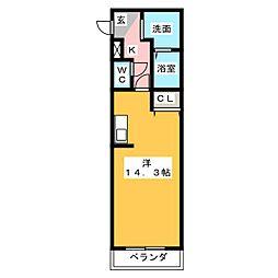Avenir K[2階]の間取り