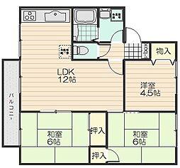 メゾン萩原(ハギワラ) B棟[2階]の間取り