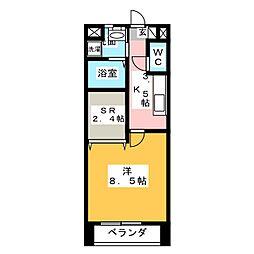 野村様ラフィネ[2階]の間取り