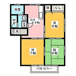 岩昇ハイツC[2階]の間取り