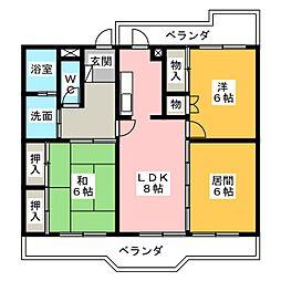 第3トータス[2階]の間取り
