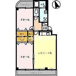 岡山県倉敷市安江丁目なしの賃貸マンションの間取り