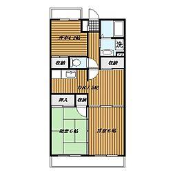 岩澤マンション[206号室]の間取り