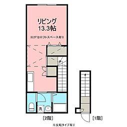 フロンティアハウス上田 1階1Kの間取り