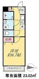 京成本線 京成高砂駅 徒歩5分の賃貸マンション 1階1Kの間取り