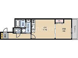 フジパレス新喜多II番館[3階]の間取り