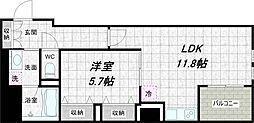 G-FLAT[6階]の間取り