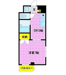 ビュートピネ早稲田[2階]の間取り