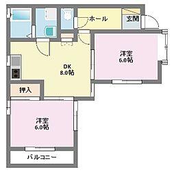 駒岡コートタウンE棟[E-3号室]の間取り