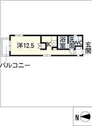 プリマベーラウエスト[3階]の間取り