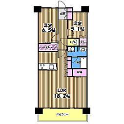 深大寺レジデンス[5階]の間取り