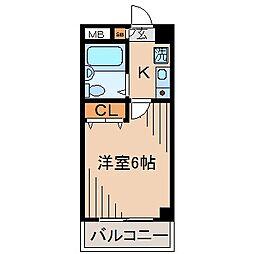 ジョイフル妙蓮寺[202号室]の間取り