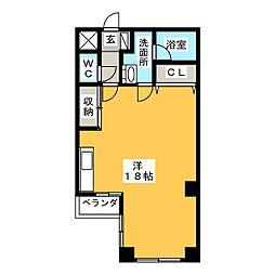 デザイナーズマンション Will[3階]の間取り