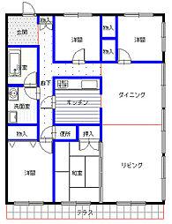 エーワイハイツ寺塚[3階]の間取り