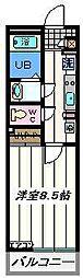 東京都葛飾区四つ木4丁目の賃貸マンションの間取り