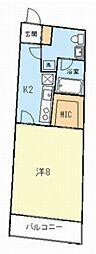 ラ・ヴィータ梶ヶ谷[2階]の間取り