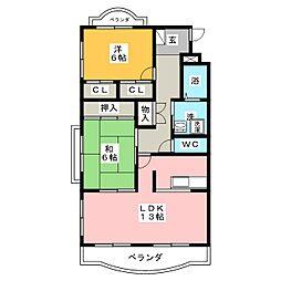 ドリームハイツルナ[1階]の間取り