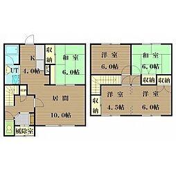 [テラスハウス] 北海道札幌市北区新琴似四条4丁目 の賃貸【/】の間取り