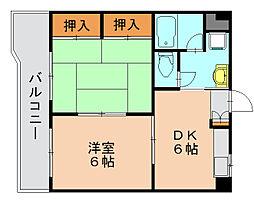 ハピネス岩崎[2階]の間取り