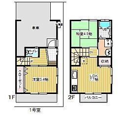 [テラスハウス] 東京都青梅市新町3丁目 の賃貸【東京都 / 青梅市】の間取り