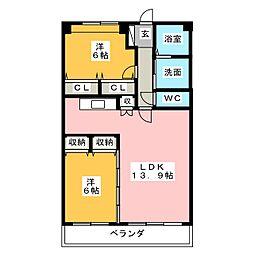 ワンダフルコートII[4階]の間取り