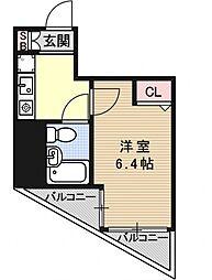 エスリード京都駅前[406号室号室]の間取り