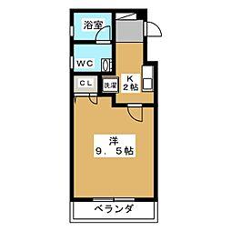 フレンズコート静岡[5階]の間取り