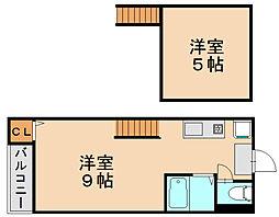 アビーコート[2階]の間取り