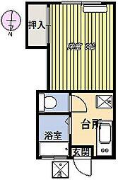第3元町コーポ[202号室]の間取り
