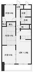 LONE STAR 茶屋ヶ坂[1階]の間取り