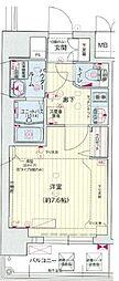 ララプレイス四天王寺夕陽ヶ丘プルミエ 2階1Kの間取り