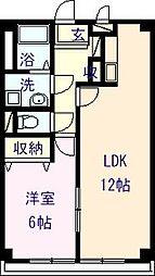 愛媛県新居浜市東雲町2丁目の賃貸マンションの間取り