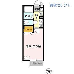 クレール上本郷[2階]の間取り