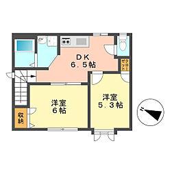 東京都葛飾区奥戸6丁目の賃貸アパートの間取り