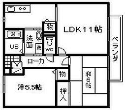 マノワールYAMAMOTO C棟[201号室]の間取り