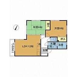 新潟県新潟市中央区神道寺南1丁目の賃貸アパートの間取り