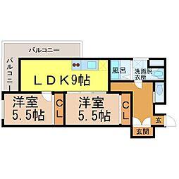レジデンシア東別院[2階]の間取り