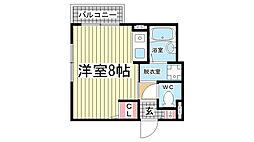 兵庫県神戸市灘区水道筋5丁目の賃貸マンションの間取り