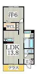 仮)D−roomTV大室3丁目B[1階]の間取り