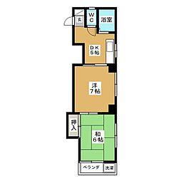 城ビル[4階]の間取り