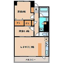 グラディート町田[14階]の間取り