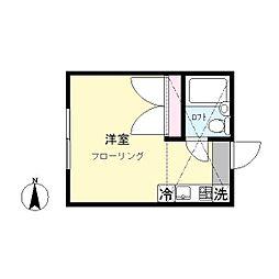 ドルチェ三田[203号室]の間取り